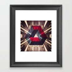 Isometric symmetry Framed Art Print