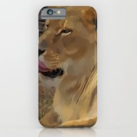 iPhone & iPod Case featuring Lioness by Christy Leigh