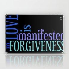 Love is Forgiveness (in Black) Laptop & iPad Skin