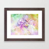 APPLE BLOSSOM PASTEL Framed Art Print