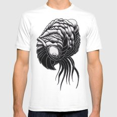 Brain Feeder White Mens Fitted Tee SMALL