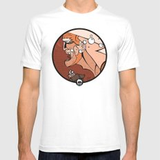 Aguaman SMALL Mens Fitted Tee White