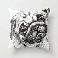 Pug Nº2 Throw Pillow