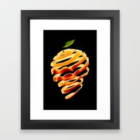 Orange Skull Framed Art Print