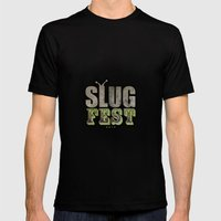 Slug Fest - slacker tee Mens Fitted Tee Black SMALL