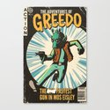 Greedo Vintage Comic Cover Canvas Print