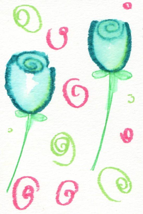 Blue Tulips Canvas Print