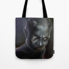 Demonoid Girl Portrait Tote Bag