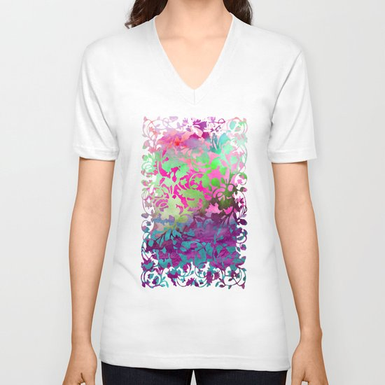 Earth_Watercolor by Jacqueline & Garima V-neck T-shirt