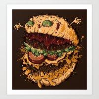 Monster Burger Art Print