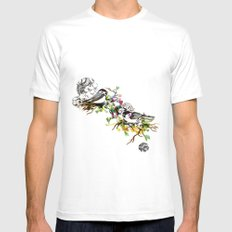Two Birds Mens Fitted Tee SMALL White