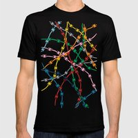 Trapped New Mens Fitted Tee Black SMALL