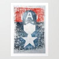 Yankee Captain Grunge Su… Art Print