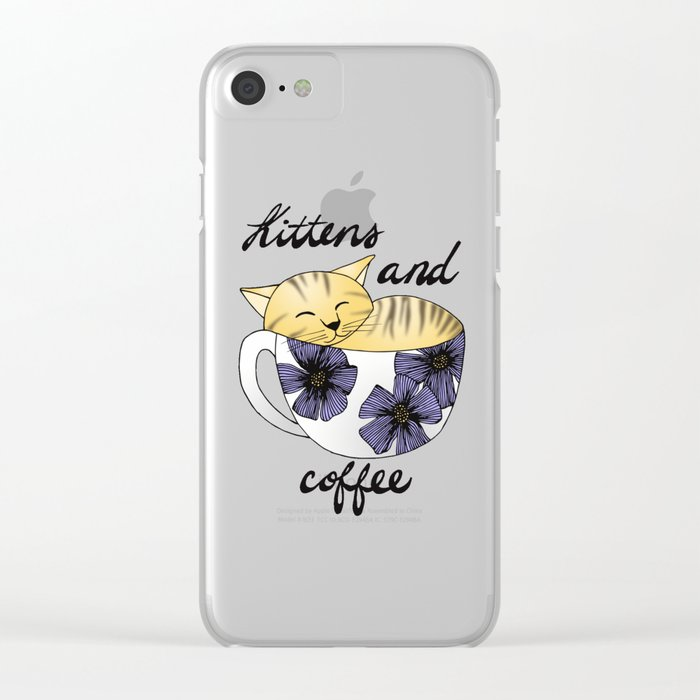kittens coffee iphone 7 clear case
