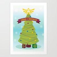 A Triforce Christmas Art Print