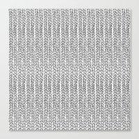 Knit Outline Canvas Print