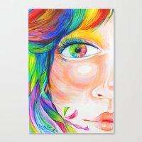 rainbow haired Canvas Print