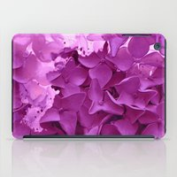 through the purple hydrangea iPad Case