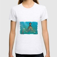 Octopus & The Diver Womens Fitted Tee Ash Grey SMALL
