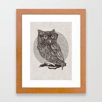 Nerd Owl Framed Art Print