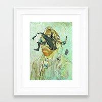 In Vincent´s Face · 3 Framed Art Print