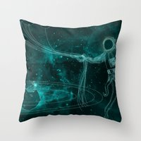 A Birthday Spacetacle! Throw Pillow