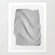 Art Print featuring Minimal Curves by Leandro Pita