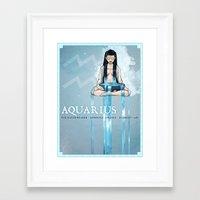 AQUARIUS Framed Art Print