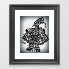 Robotic Bird Framed Art Print