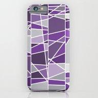Purple And Grey iPhone 6 Slim Case