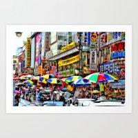 Korean Rain (Painted Ver… Art Print
