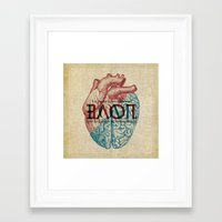 Love is...heart and reason Framed Art Print