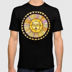 The Sun was incapable of making plans SMALL Black Mens Fitted Tee