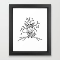 I am one with the tree! Framed Art Print