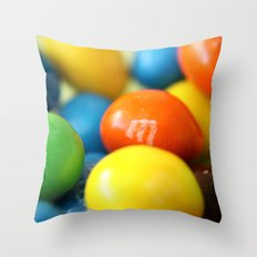 Colourful M&M's Throw Pillow