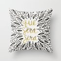 Whatever Will Be, Will Be – Black & Gold Throw Pillow