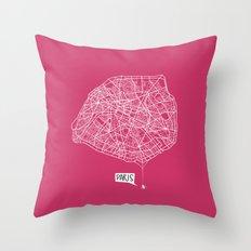 Spidermaps #1 Light Throw Pillow
