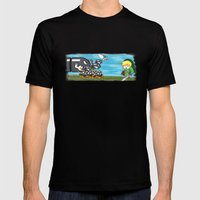 Link Boom Mens Fitted Tee Black SMALL