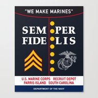 US Marine Corps, USA. Canvas Print