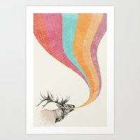 Elk Song Art Print