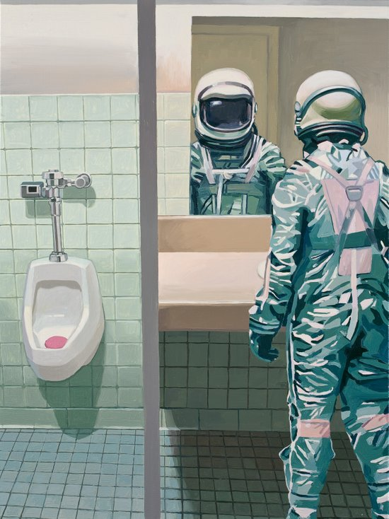 Men's Room Art Print