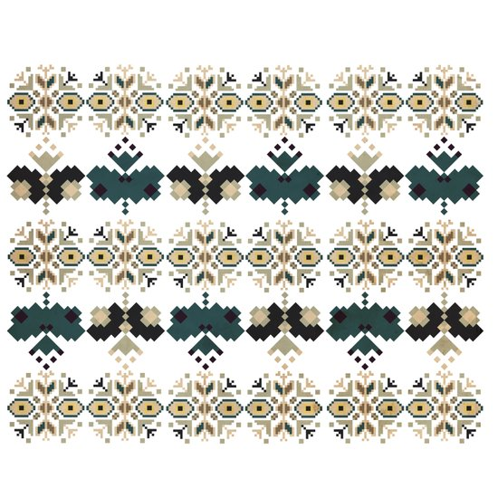 Bulgarian embroidery pattern 03 Art Print