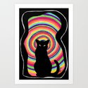 time for child stories: the BLACK CAT Art Print