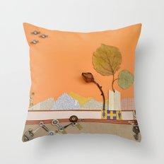 The rose of autumn Throw Pillow