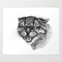 Wicked Cat Portrait G131 Art Print