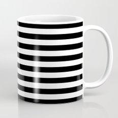 Modern Black White Stripes Monochrome Pattern Mug