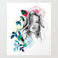 Kristen Fashion Watercol… Art Print