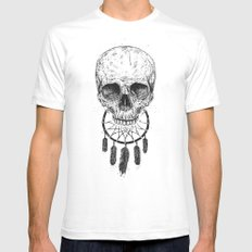 Dream forever SMALL Mens Fitted Tee White