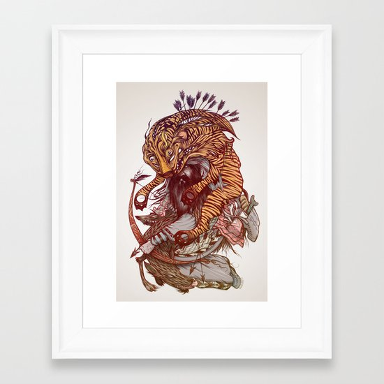 Gluttony Framed Art Print