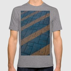 Yellow Lines at the ground Mens Fitted Tee Athletic Grey SMALL
